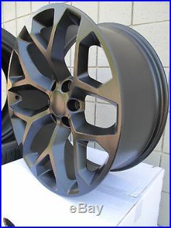 22 New Ram 1500 Satin Matte Black Set Of Wheels 5668 Ram 6 Lug 2019 2020