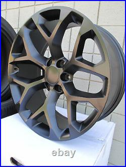 22 New Ram 1500 Satin Matte Black Set Of Wheels 5668 Ram 6 Lug 2019 2020 2021