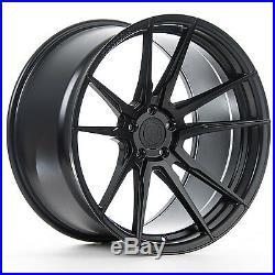 22 Rohana Rf2 Matte Black Concave Wheels For Porsche 970 Panamera S Turbo 4s