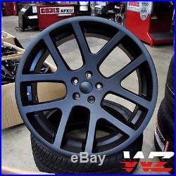 22 Viper Style Wheels Matte Black Fits Dodge Magnum Charger Challenegr 300C