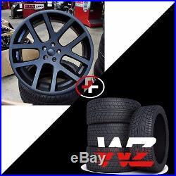 22 Viper Style Wheels w Tires Matte Black Fits Dodge Charger Challenger Magnum