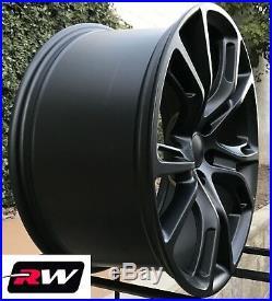 22 inch RW Wheels for Jeep Grand Cherokee Matte Black Rims SRT8 Spider Monkey