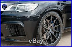 22x10.5 +42 Rohana RC10 5x120 Matte Black 22 Wheels Set For BMW X5M X6M
