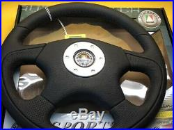 350mm Flat Black leather padded Sports steering wheel Autotecnica SW101720