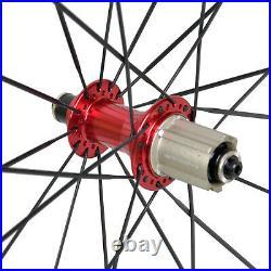 38mm Carbon Wheel Clincher Novatec Road Bike Front Rear Rim UD Matt 11s 700C