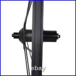 46mm DT350 Full Carbon Spoke Wheel Clincher Road Bike 700C Basalt Rim 3k matt 23