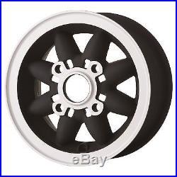 4.75 x 10 Rosepetal Matt-black Wheels 4 x 101.6 PCD Classic Mini Set of 4