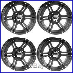 4 ATV/UTV Wheels Set 12in ITP SS212 Matte Black 4/110 5+2/2+5 SRA