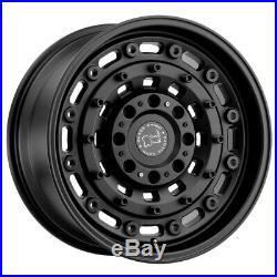 4-Black Rhino Arsenal 16x8 6x5.5 -10mm Matte Black Wheels Rims 16 Inch