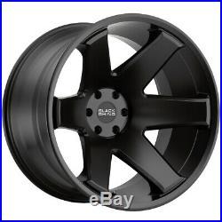 4-Black Rhino Raze 17x10 6x139.7 (6x5.5) -44mm Matte Black Wheels Rims