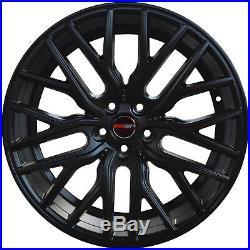 4 GWG Wheels 20 inch Matte Black FLARE Rims fits NISSAN MAXIMA 2017