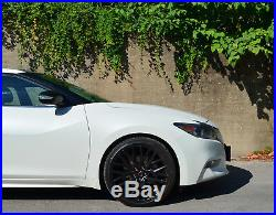 4 GWG Wheels 20 inch STAGGERED Matte Black FLARE Rims fits NISSAN MAXIMA 2017
