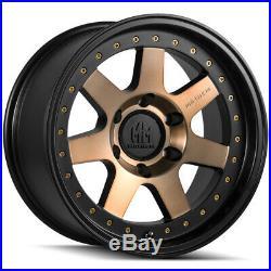 4-Mayhem 8300 Prodigy 17x9 6x5.5 -6mm Bronze/Black Wheels Rims 17 Inch