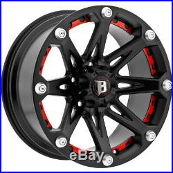 4-NEW 20 Inch Ballistic 814 Jester 20x9 6x135 -12mm Flat Black Wheels Rims