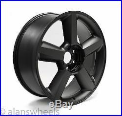 4 NEW Chevy Silverado Avalanche Matte Black 22 Wheels Rims Gold Bowtie 5308