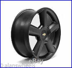 4 NEW Chevy Suburban Tahoe LTZ Matte Black 22 Wheels Rims Gold Bowtie 5308