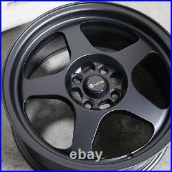 4-New 15 Vors SP1 Wheels 15x8 4x100/4x114.3 20 Matte Black Rims 73.1