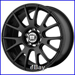 4-New 17 Inch 17x8 Motegi MR118 5x100 +45mm Matte Black Wheels Rims
