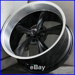 4-New 17 Ridler 695 Wheels 17x7 5x4.75/5x120.65 0 Matte Black Machined Lip Rims