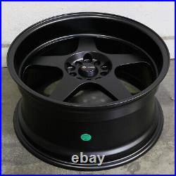 4-New 18 Vors SP1 Wheels 18x9 5x100/5x114.3 35 Matte Black Rims 73.1