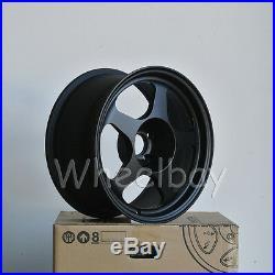 4 PCS ROTA WHEEL SLIPSTREAM 16X8 4x100 34 67.1 FLAT BLACK 17 LBS
