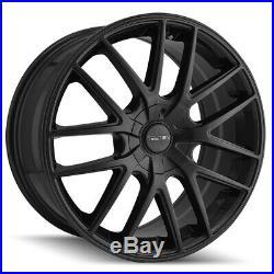 4-Touren TR60 17x7.5 5x100/5x4.5 +42mm Matte Black Wheels Rims 17 Inch