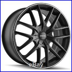 4-Touren TR60 18x8 5x110/5x115 +40mm Matte Black/Ring Wheels Rims 18 Inch