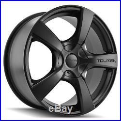 4-Touren TR9 17x7 5x5 +42mm Matte Black Wheels Rims 17 Inch
