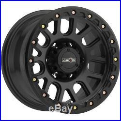 4-Vision 111 Nemesis 17x9 6x5.5 -12mm Matte Black Wheels Rims 17 Inch