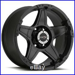 4-Vision 395 Wizard 18x9 6x135 -12mm Matte Black Wheels Rims 18 Inch