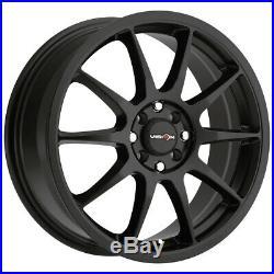 4-Vision 425 Bane 15x6.5 4x100/4x108 +38mm Matte Black Wheels Rims 15 Inch