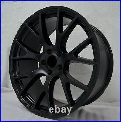 4 Wheels 20 inch Stagg Matte Black Rims fits DODGE CHALLENGER SRT HELLCAT 15-20