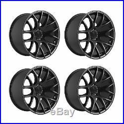 4 x 3SDM 0.01 Matt Black Alloy Wheels 5x112 18x8.5 ET45