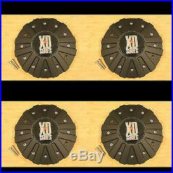 4 x KMC XD Series 778 Monster Matte Flat Black Wheel Rim Center Cap 846L215