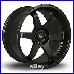 4 x Rota Grid Drift Matt Black Alloy Wheels 18x8.5ET305x114 PCD73mm CB