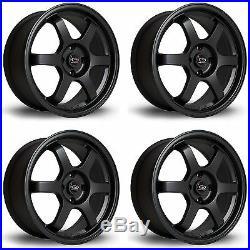 4 x Rota Grid Matt Black Alloy Wheels 17x7.5ET454x100 PCD67.1mm Centre