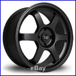 4 x Rota Grid Matt Black Alloy Wheels 17x7.5ET454x108 PCD73mm Centre