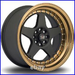 4 x Rota Kyusha Alloy Wheels Flat Black 17x9in ET20 4x100/4x108 PCD 67.1CB