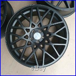 4x 18x8 5x100 LG2 Alloy Wheel et35 73.1 Matt Black Fitted however look new