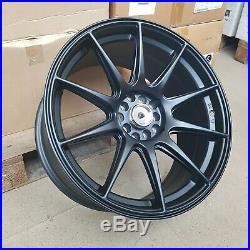 4x 18x8.75/9.75 5x100/114 et15/20 XXR Style Alloy Wheels Matt Black NEW