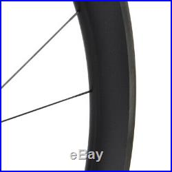 55mm Carbon wheelset matt rim 700C Road bicycle wheels Tubeless Clincher Cycle