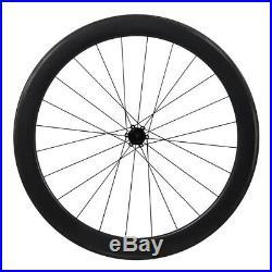 55mm Clincher wheelset carbon matt front rear 700C Road bike wheels rim brake