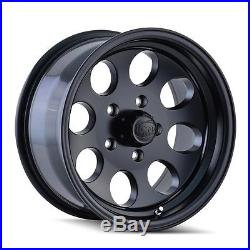 (5) 17 ION 171 Matte Black Wheels Rims 5x127 5x5 Jeep Wrangler JK Set of 5