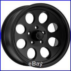 5-Ion 171 17x9 5x5 -12mm Matte Black Wheels Rims 17 Inch Jeep JK JL
