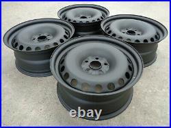 8x18 JBW PEPPERPOT MATT BLACK STEEL WHEELS 5x112 MERCEDES VITO SET OF 4