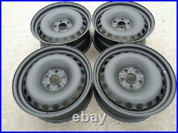 8x18 JBW PEPPERPOT MATT BLACK STEEL WHEELS 5x112 VW CADDY SET OF 4
