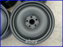 8x18 JBW SMOOTHIE MATT BLACK STEEL WHEELS 5x112 VW GOLF MK5 6 7 SET OF 4