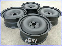 8x18 JBW SMOOTHIE MATT BLACK STEEL WHEELS TO SUIT VW T5 SET OF 4