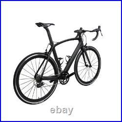 AERO Carbon Road Bike Frame 700C Alloy Wheel Clincher Fork seatpost V brake 49cm