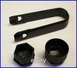 AUDI A3 A4 A5 A6 Q3 Q5 MATT BLACK WHEEL NUT BOLT COVERS CAPS LOCKING 17mm x20 11